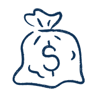 Icon of a bag of money